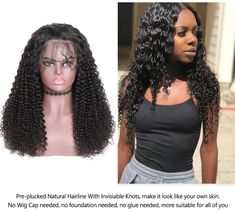 Brazilian High Density Kinky Curly 13x4 Lace Front Wig Natural Black EverGlow Human Hair - 150% / 12