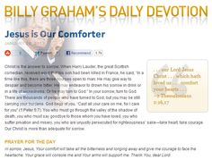 Michael James Stone: BILLY GRAHAM DAILY
