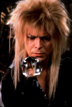 1986 - David Bowie as Jareth, The Goblin King in Labyrinth film. David Bowie Labyrinth, Labyrinth Movie, Jareth Labyrinth, Labyrinth Tattoo, Pulp Fiction, Fandoms, The Thin White Duke, Kino Film, Fantasy Films