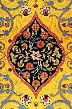 Persian art carpet (detail), by Auguste Racinet, 1877 Islamic Motifs, Islamic Art Pattern, Pattern Art, Persian Pattern, Persian Motifs, Tile Art, Mosaic Art, Motif Oriental, Image Jesus