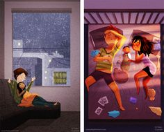 Ilustrações Que Revelam Momentos Agradáveis de Amor no Dia-a-Dia INSPIRAÇÃO