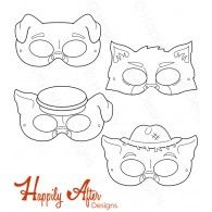 Barnyard Animals Printable Coloring Masks, farm animal