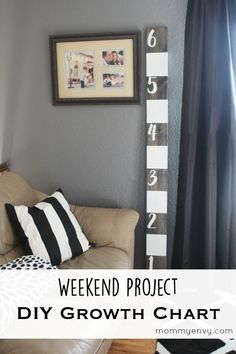 I love using chalk paint and this is one of my favorite chalk paint ideas! This DIY growth chart idea can move with your family. Such an easy DIY project; I made this in an afternoon!