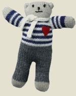 Crochet Bear mother bear project - please pin this around to spread the word! this is an excellent project Knitting Bear, Knitted Teddy Bear, Crochet Teddy, Knit Or Crochet, Cute Crochet, Crochet Dolls, Beautiful Crochet, Teddy Bears, Knitting Projects