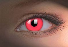 Red Glow Contact Lenses