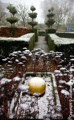 The Laskett Gardens in winter