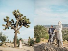 Christ Park Yucca Valley, Yucca Valley engagement session, Randy and Ashley, indie engagement sessions, vintage engagement sessions in the desert, rock chapel yucca valley