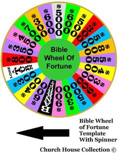 Bible Wheel Of Fortune Template Printable by ChurchHouseCollection.com