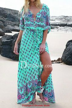 Cheap vestidos f, Buy Quality vestidos fashion directly from China maxi long dress Suppliers: ZANZEA Women Dress 2017 Boho Fashion Sexy Maxi Long Dresses V Neck High Waist Casual Vintage Floral Printed Beach Vestidos Mode Hippie, Mode Boho, Boho Chique, Vestido Maxi Floral, Chiffon Maxi, Floral Sundress, Sexy Dresses, Summer Dresses, Beach Dresses