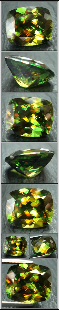 Sphene has an unusually high refractive index (1.843-2.110), higher than zircon, ruby and sapphire.