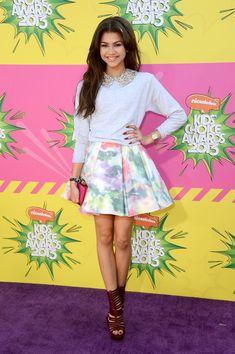 zendaya coleman outfits | Zendaya Coleman's Sweater and Skirt Combo - You Voted - The Top 10 ...