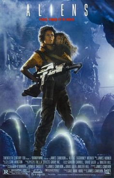 Aliens is one of the best movies of the I love how James Cameron gave a sci - fi action vibe to the Alien franchise. I also like this movie better than Alien. I adore this movie! One of the best science fiction films ever! Horror Movie Posters, Alien Movie Poster, Aliens Movie, Classic Movie Posters, Classic Movies, Horror Movies, Alien Movie 1979, 90s Movies, Sci Fi Movies