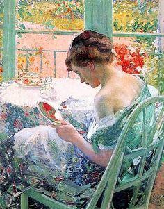 Richard E. Miller (1875-1943) American impressionist | La toilette