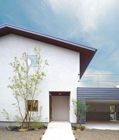 エクステリア参考 Exterior House Colors, Exterior Design, Japan Modern House, Architecture 101, House Entrance, Japanese House, Facade House, House Front, Future House