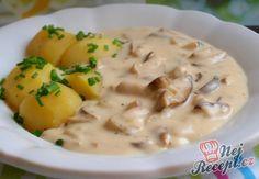 Smetanová houbovka s bramborem Mushroom Recipes, Cheeseburger Chowder, Stuffed Mushrooms, Food And Drink, Low Carb, Vegan, Pesto, Cooking, Spice