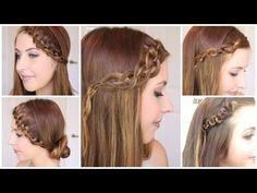 4 Formas de reinventar tu peinado con trenzas - Peinados Magazine / Tutorial