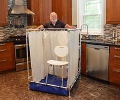 A Portable Shower Can Set Up Easily In Your Kitchen Or Laundry Room.  Helpful During