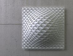 VASARELY Laser Sintered Light by JANNE KYTTÄNEN for FOC;  gorgeous 3D printed wall light. Janne's trademark designs combine simplicity with high complexity