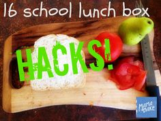 School lunch box hacks tips and tricks Lunch Box Recipes, Baby Food Recipes, Lunchbox Ideas, Healthy Meals For Kids, Kids Meals, Teacher Lunches, School Lunch Box, Apps, Videos Tumblr