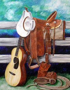 Cowboy gear with guitar