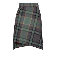 Green Tartan Mini Case Skirt #Redlabel #AW1516