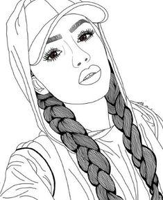 New beautiful art drawings sketches pens ideas Art Drawings Beautiful, Cool Art Drawings, Outline Drawings, Pencil Art Drawings, Easy Drawings, Tumblr Girl Drawing, Girl Drawing Sketches, Tumblr Drawings, Girly Drawings