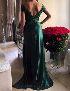 Long For Wedding Dark Green Cap Sleeve Split Design Satin Vestidos De Noite Para Casamento Vestido Noite Elie Saab Evening Dress-in Evening Dresses from Weddings & Events on Aliexpress.com | Alibaba Group