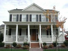 colonial style + front porch + shutters = perfect!