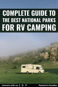 Bucket list destinations in the US. Amazing list of the best national parks for large RV Camping. From East coast to West coast, load up with the kids and dog and hit the road! Top campgrounds with tips and tricks for your RV needs. Cascade National Park, North Cascades National Park, Everglades National Park, Capitol Reef National Park, Grand Teton National Park, Rocky Mountain National Park, Yellowstone National Park, National Parks, Park Service