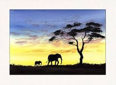 Image result for African Watercolour Landscapes Watercolor Landscape, Watercolours, Cool Drawings, Moose Art, Landscapes, African, Painting, Animals, Image