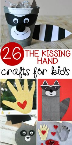If you love reading The Kissing Hand, you will love these Kissing Hand crafts to try this Back to School season with your kids!If you love reading The Kissing Hand, you will love these Kissing Hand crafts to try this Back to School season with your kids! Kissing Hand Preschool, Kissing Hand Crafts, Kissing Hand Activities, 1st Day Of School, Beginning Of School, School Week, The Kissing Hand Book, Hand Crafts For Kids, Back To School Crafts For Kids