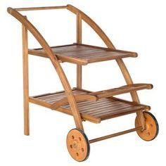 Lodi Acacia Tea Cart