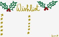 Hearts & Wings by Shireece: To do list de Noël Christmas wishlist