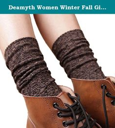 "Deamyth Women Winter Fall Girl Knit Boot Cover Socks Leg Warmers 14.9"" (Coffee). Feature: 100% brand new and high quality. Quantity:1PC Style:Casual Applicable gender:Women Material: Cotton Size:38cm/14.9""(approx)(The manual measurement may be a little error) Function:To keep warm, protect your legs It is very warm and the design is keep up with the fashion The necessary accessory for the winter season when you go outside Package Include: 1 Pair Women Socks Leg Warmer."