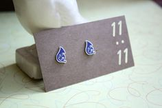How I Met Your Mother HIMYM Blue French Horn Stud Post Earrings