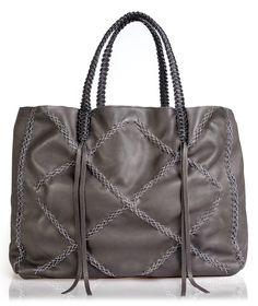 Callista Crafts Anthracite Chain Squared Lattice Tote Bag