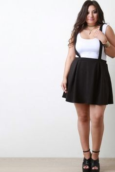 4f18f05aed4 15 Shopping Sites You ll Wish You Had Known About Sooner. Plus Size  Crisscross Suspender Skirt