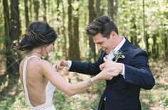 Wedding in the Woods Wedding Goals, Wedding Beauty, Wedding Planning, Dream Wedding, Our Wedding, When I Get Married, I Got Married, Groom Reaction, Wedding Photography Poses