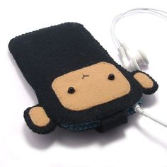 Monkey iPod / iPhone / Phone Case / Cover by minifelts on Etsy, £16.00