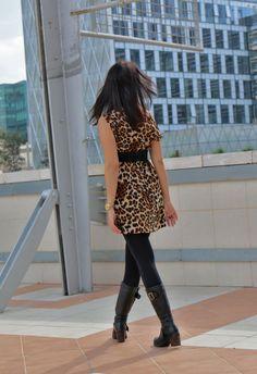 Fashion speckled dress