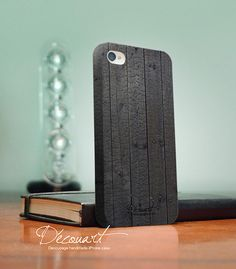 Wood iPhone 4 case, iPhone 4s case, Wood pattern S001. $26.99, via Etsy.