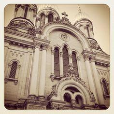 Russian church overlooking Wiesbaden. Barcelona Cathedral, Germany, Building, Travel, Design, Wiesbaden, Viajes, Buildings