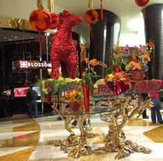 """Gorgeous decorations...2014 """"Chinese New Year"""" at the ARIA"""