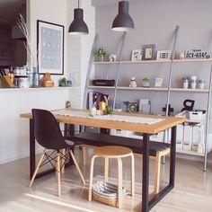 ペンダントライト/IKEA 照明/棚 ディスプレイ/グランビックシェルフ/北欧モダン…などのインテリア実例 - 2016-05-17 13:54:10 | RoomClip(ルームクリップ)