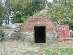 Circa 1843 Brick Arch Root Cellar, New London, CT - exterior...behind Shaw Mansion?