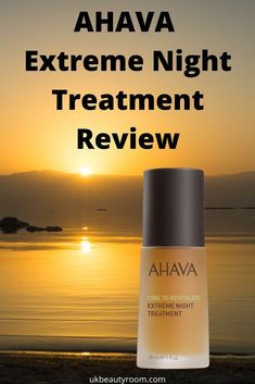 AHAVA Extreme Night Treatment is a thick highly concentrated nourishing oil. It sinks quickly into the skin without leaving a film. Skin Care Regimen, Skin Care Tips, Moisturiser, Cleanser, Overnight Pimple Treatment, The Ordinary Skincare, Best Serum, Healthy Skin Care, Skin Smoother