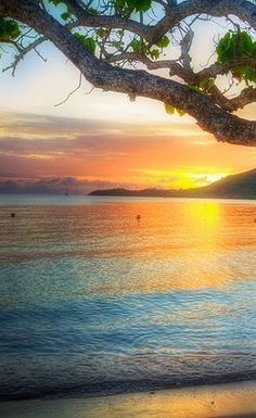A glorious Martinique sunset provides a rainbow of colors. #water