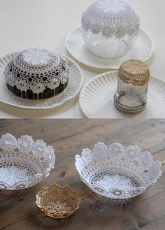 Peki salondaki orta sehpanın üzerinde duran süsleri değiştirmeye ne dersini… What about changing the ornaments on the center table in the living room? Doilies Crafts, Paper Doilies, Crochet Motifs, Crochet Doilies, Floating Candles, Diy Candles, Tea Stained Paper, Doily Art, Hemp Yarn