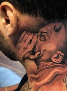 Inner Demon – I've never been big on neck tats, but this one makes me recons… - diy tattoo images Gangster Tattoos, Chicano Tattoos, Badass Tattoos, Cholo Tattoo, Hand Tattoos, Neck Tattoos, Body Art Tattoos, Sleeve Tattoos, Tattos