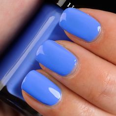 Cornflower blue nails...one of my favorite shades.